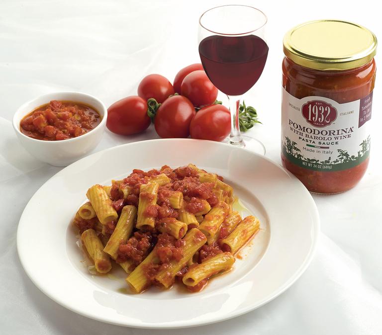 Maccheroni with Pomodorina sauce and Barolo