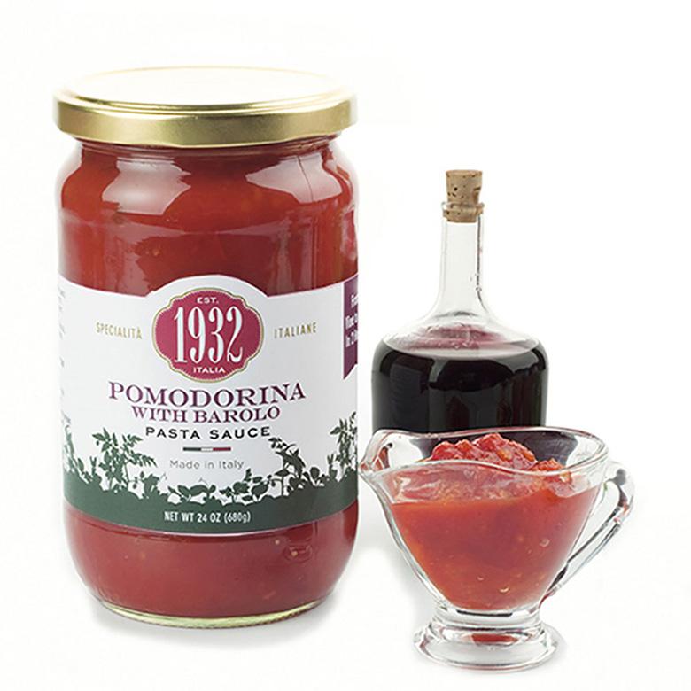 Pomodorina with Barolo Wine